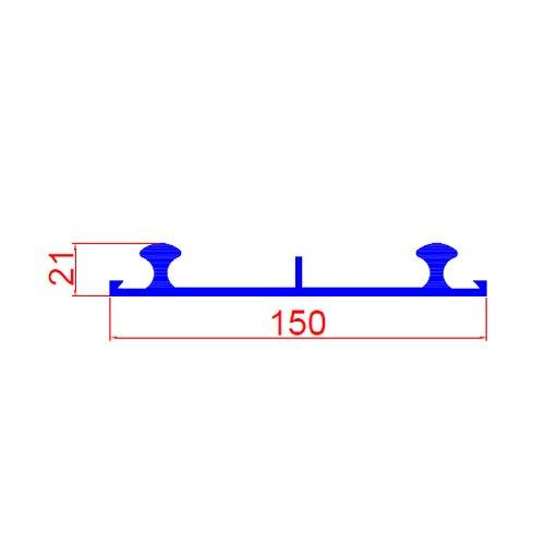 KW-150mm blue pvc waterstop for External Construction Joint
